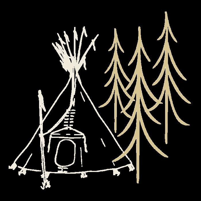 zelter-Tipi-Indianer-Zelt-Abenteur-in-der-Natur-Naturzelt-Skizze